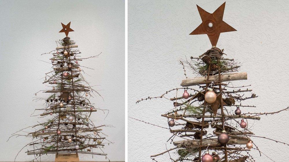 Tannenbaum Aus Blech.Tannenbaum Aus Treibholz Und Naturmaterialien Naturena